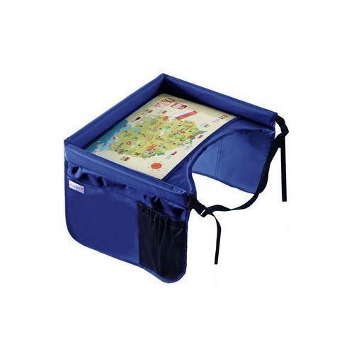 TULOKO Bezpieczny stolik podróżnika z mapą Polski, niebieski (5903111233020)