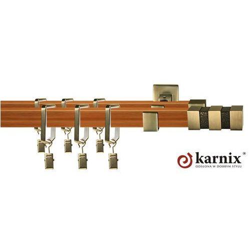 Karnisz kwadratowy ROYAL podwójny 20x20/20x20mm Venezia Antyk mosiądz - calvados - oferta [35e84377c73594bd]