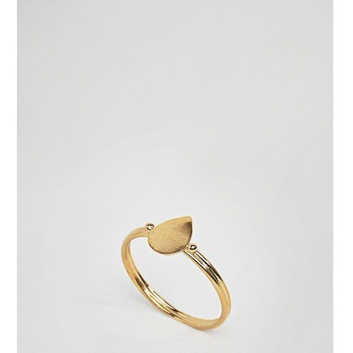 Asos design curve gold plated sterling silver sleek teardrop ring - silver marki Asos curve