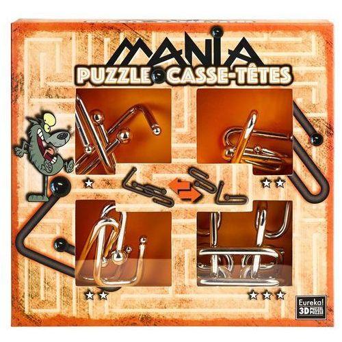 Łamigłowki metalowe 4 sztuki Puzzle-mania zestaw p - Jeśli zamówisz do 14:00, wyślemy tego samego dnia.