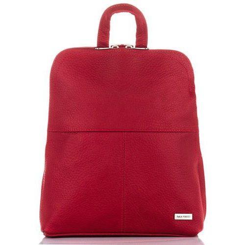 1e466cdf934f9 ... Zgrabny skórzany plecak damski czerwony - czerwony 119,90 zł poręczny,  a zarazem szykowny plecak kobiecy do noszenia zarówno na co dzień, ...