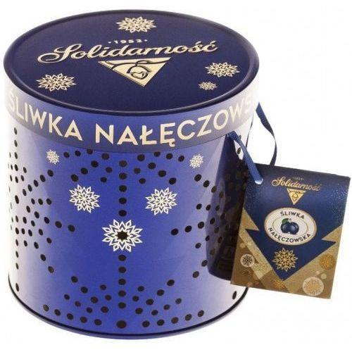 Czekoladki Śliwka Nałęczowska Solidarność 187g w eleganckiej puszce Lampion