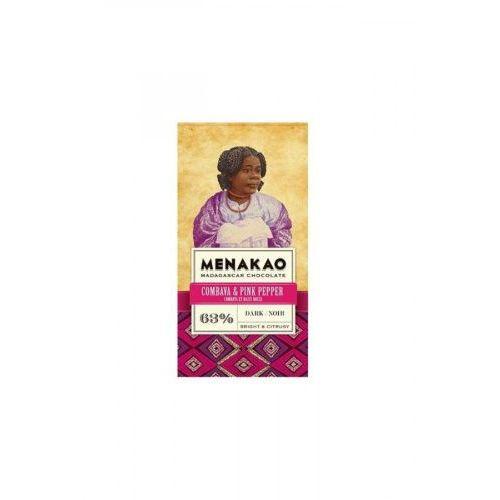Czekolada Menakao 63% lim. kaffir, pieprz róż. 65g