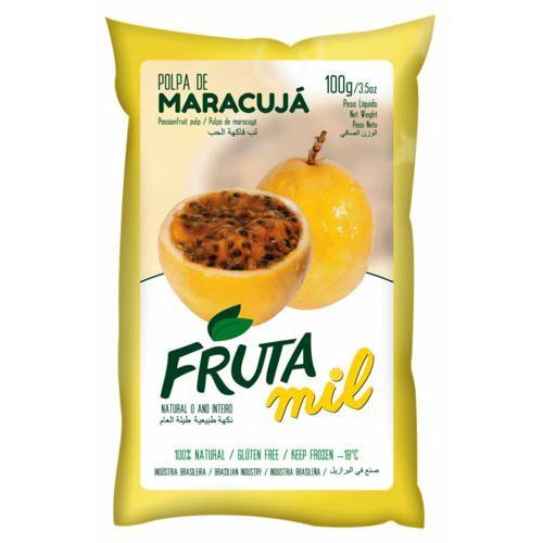 Frutamil comércio de frutas e sucos ltda Marakuja - passiflora - męczennica puree owocowe (miąższ, pulpa, sok z miąższem) bez cukru 2kg (2275801010014)