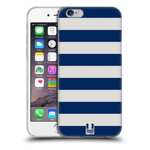 Etui silikonowe na telefon - Paski Białe i Niebieskie