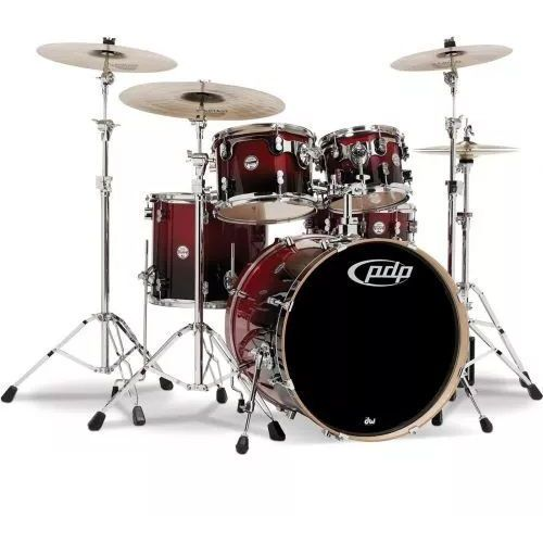 Pdp by dw shell set concept maple, red to black sparkle fade zestaw perkusyjny