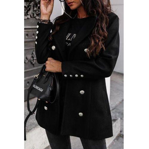 Płaszcz damski BERGANA BLACK, w 4 rozmiarach