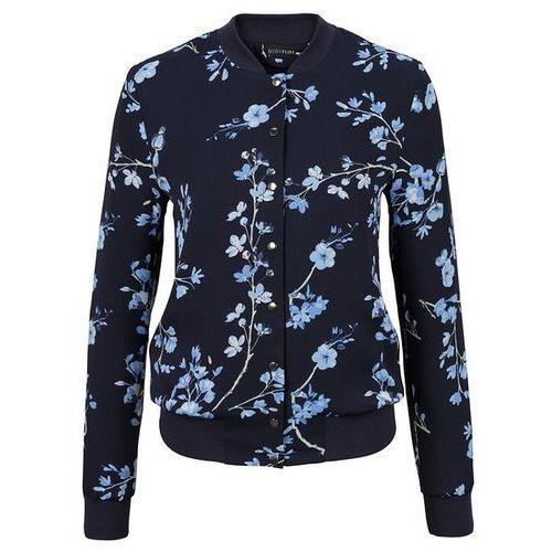 Must Have: kurtka bomberka bonprix ciemnoniebiesko-jasnoniebieski w kwiaty