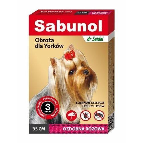 Sabunol obroża przeciw kleszczom i pchłom różowa 35cm (5901742000752)