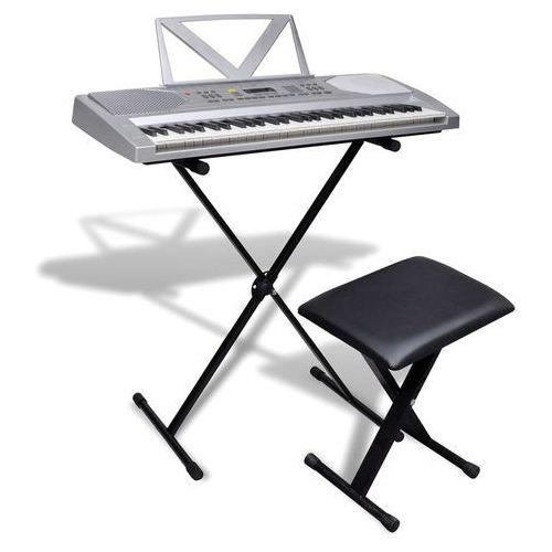 vidaXL Kompletny zestaw Keyboard elektryczny+statyw+taboret (8718475922988)