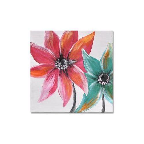 Kolorowe kwiaty, nowoczesny obraz ręcznie malowany (obraz)