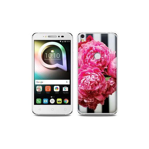 Alcatel shine lite - etui na telefon foto case - różowe kwiaty marki Etuo foto case