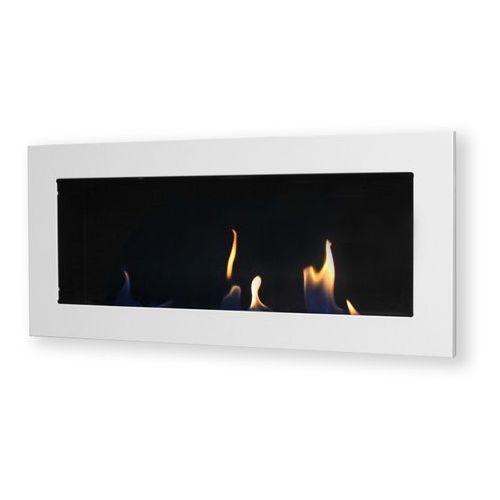 Biokominek dekoracyjny prostokątny 90x40 biały Flat by , EcoFire z ExitoDesign