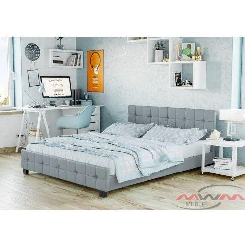 Meblemwm Łóżko tapicerowane do sypialni 180x200 893 jasnoszare