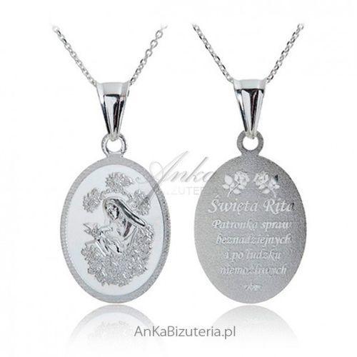 Ankabizuteria.pl medalik srebrny św. rita patronka spraw beznadziejnych marki Anka biżuteria
