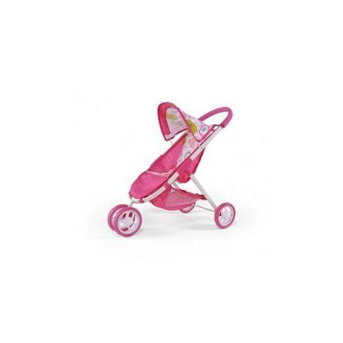 WÓZEK DLA LALEK ZUZIA RÓŻOWY Z BIAŁYM #B1 - produkt z kategorii- wózki dla lalek