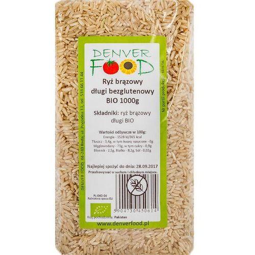 Ryż brązowy długi bezglutenowy bio 1 kg marki Denver food