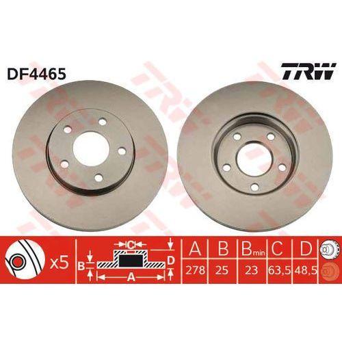 TARCZA HAM TRW DF4465 FORD C-MAX 1.6, 1.8 07-, FOCUS II 1.4, 1.6, 1.6TDCI, 1.6TI 04-