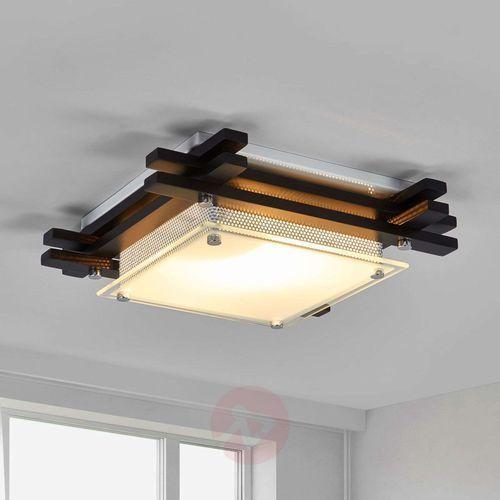 Globo Plafon lampa oprawa sufitowa edison 1x60w e27 biały/brązowy 48324 (9007371163762)