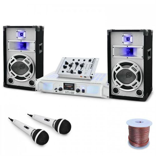 "Zestaw DJ PA ""Polar Fox"" mikser amplifier kolumny 1500W"