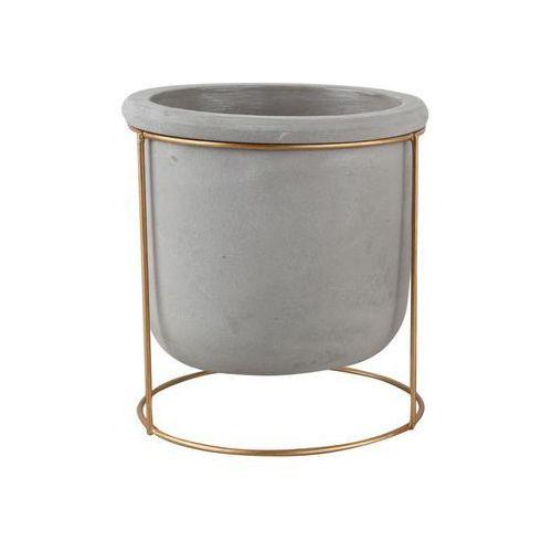 Osłonka betonowa 15 cm szara na stojaku MODERN