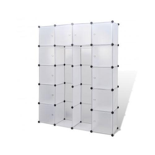 Szafa modułowa 14-częściowa (37 x 150 x 190 cm), biała, vidaXL