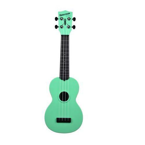 ka-swb-gn waterman, ukulele sopranowe z pokrowcem, czarno-zielony marki Kala