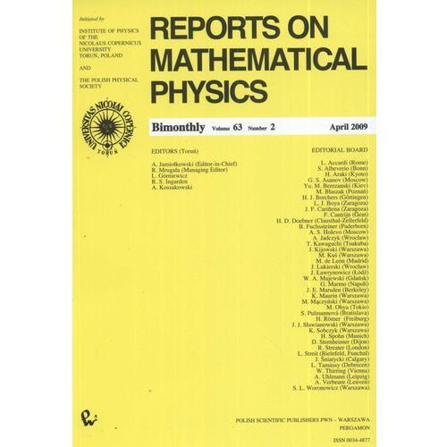 Reports on Mathematical Physics 79/2/2017 (260 str.)