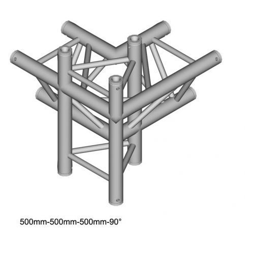 dt 33/2-c45-lud 50cm element konstrukcji aluminiowej - narożnik 4-drożny marki Duratruss