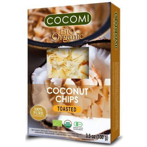Cocomi (wody kokosowe, oleje kokosowe, śmietanki) Żż chipsy kokosowe prażone bio 100 g - cocomi (4792038436116)