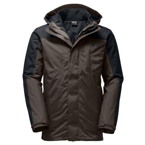 Jack Wolfskin Men's Viking Sky 3-in-1 Jacket - Olive Brown - S, kolor brązowy