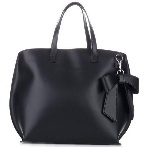 Vittoria gotti oryginalne torebki skórzane z kokardką czarne (kolory)