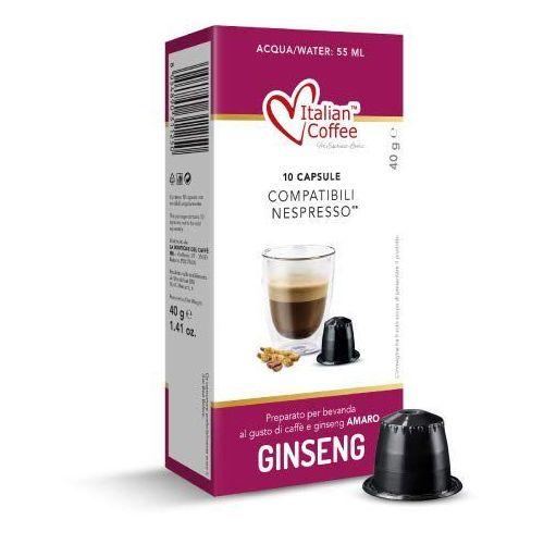 Nespresso kapsułki Ginseng amaro (kawa z żeń-szeniem) italian coffee kapsułki do nespresso – 10 kapsułek