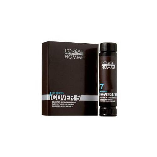 Loreal Homme Cover 5` Żel do koloryzacji 3x50ml NO7