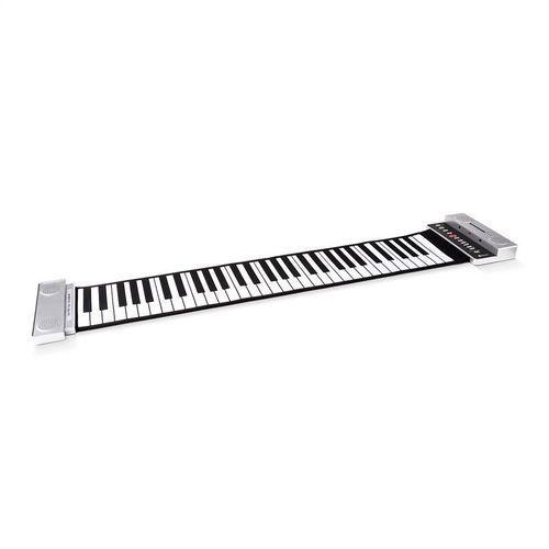 Schubert Rozwijane pianino stereo 61 klawiszy srebrne