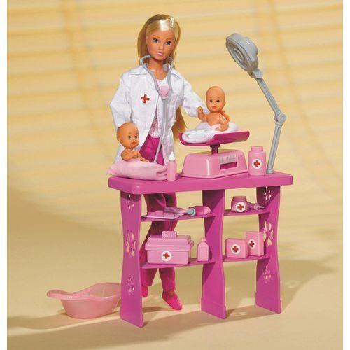 Lalka SIMBA Steffi Pediatra z dwoma niemowlakami