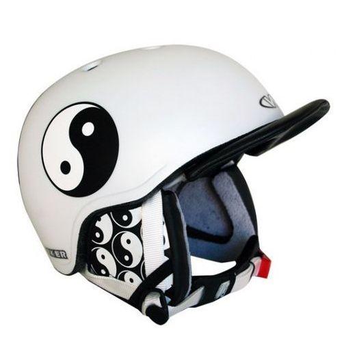 Kask snowboardowy flux - kolor jing jang, rozmiar s (50-54) marki Worker