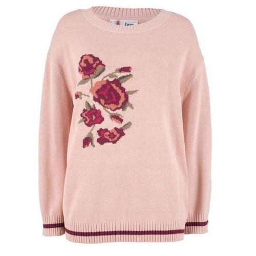 Sweter z dekoltem w serek z kaszmirem kobaltowy, Bonprix, 32-50