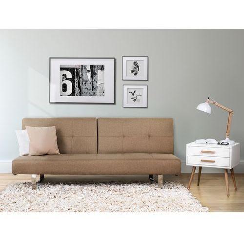 Sofa z funkcja spania bezowa - kanapa rozkladana - wersalka - DUBLIN - produkt dostępny w Beliani