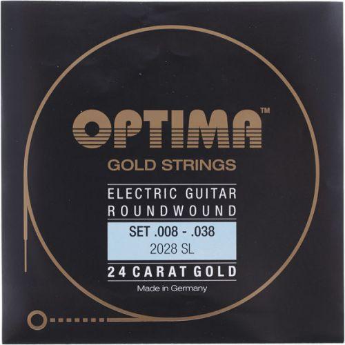 Optima 2028sl (674607) struny do gitary elektrycznej gold strings round wound komplet