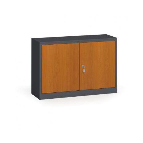 Alfa 3 Szafy spawane z laminowanymi drzwiami, 800 x 1200 x 400 mm, ral 7016/czereśnia