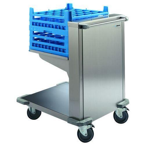 Wózek z ruchomą platformą do koszy do zmywarek, 626x790x915 mm | EDENOX, CNC-55