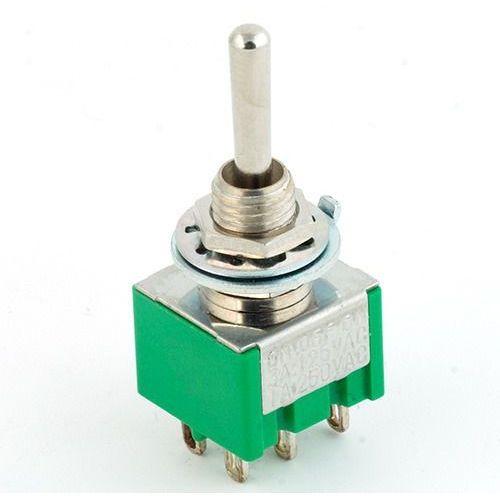 Mec mini toggle-switch, solder lug, chrome on-off-on,dpdt przełącznik gitarowy