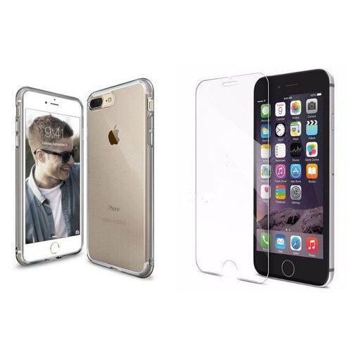 Zestaw | Rearth Ringke Air Smoke Black | Obudowa + Szkło ochronne Perfect Glass dla modelu Apple iPhone 7 Plus