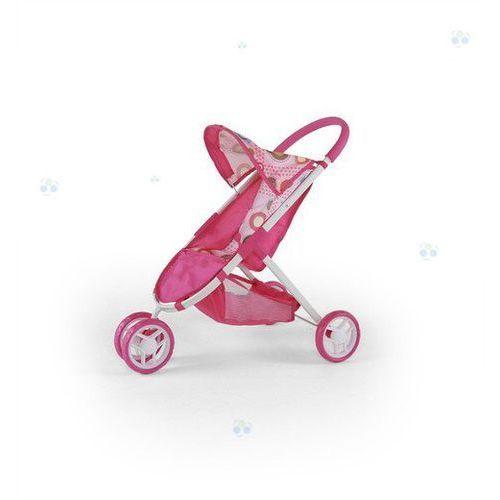 Wózek dla lalek Zuzia różowo-brązowy - oferta [05dbd541d35f15a6]
