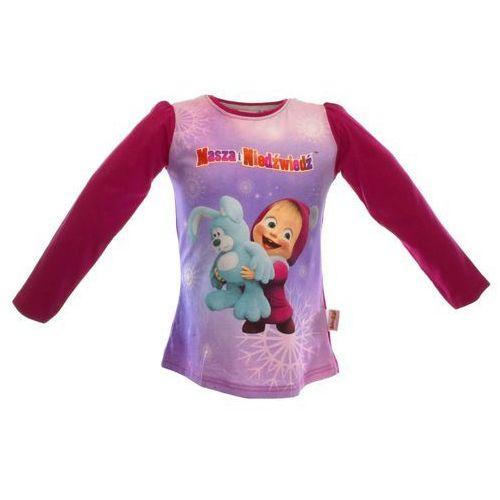 Licencja - inne Bluzka dla dzieci z bajki masza i niedźwiedź - różowy   kolorowy