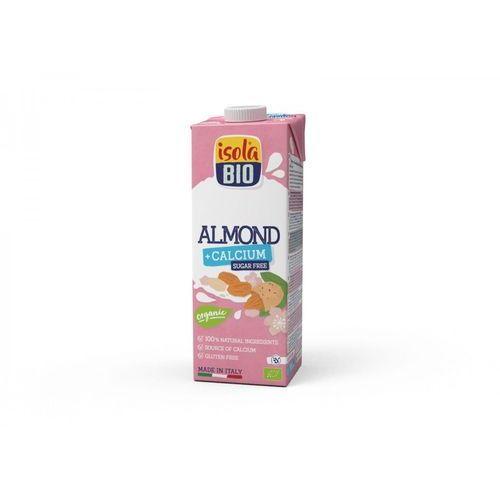 Napój migdałowy bez cukru z wapniem bezglutenowy BIO 1 l Isola Bio (8023678728047)