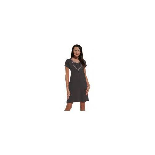 Koszula nocna ciążowa i do karmienia - Stalowa, kolor szary