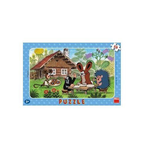Neuveden Krtek na návštěvě - puzzle 15 deskové