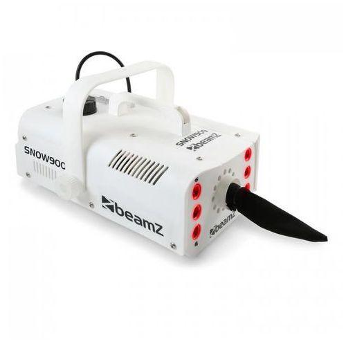 Beamz snow 900 led maszyna do wytwarzania śniegu 900 w 3 w 1 diody led zbiornik 1 l pilot kolor biały